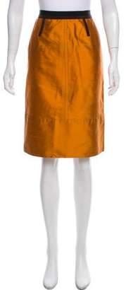Etro Colorblock Knee-Length Skirt