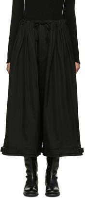 Yohji Yamamoto Black Y-Tuck Wide-Leg Trousers $1,190 thestylecure.com