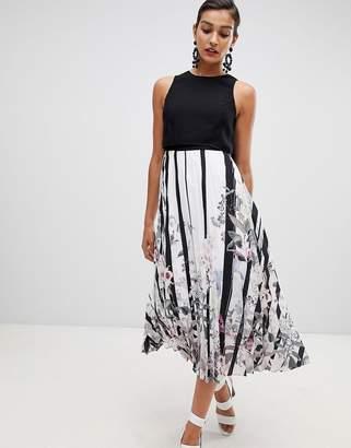 Coast Bailey Print Pleated Midi Dress