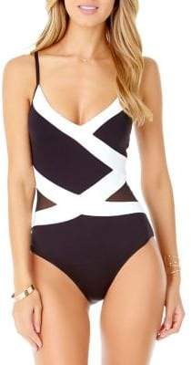 Anne Cole Colourblock One-Piece Swimsuit