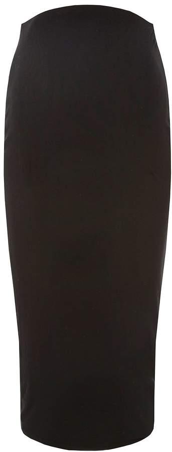 **Maternity Black Midi Bodycon Skirt