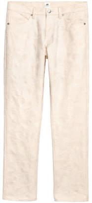 H&M Jacquard-patterned Pants - Beige