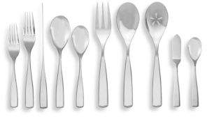 Nambe 45-Piece Anna Flatware Set