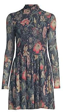 Rebecca Taylor Women's Faded Floral Fit-&-Flare Dress