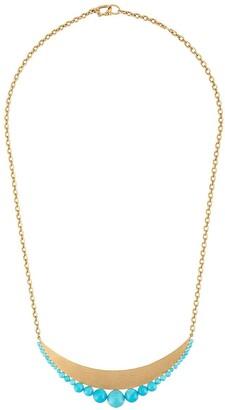 Irene Neuwirth 18kt yellow gold Kingsman turquoise bead pendant necklace