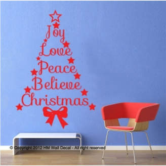 Quote Christmas Tree Wall Decal