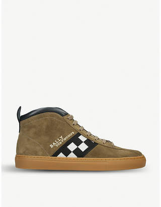 Bally Vita-Parcours suede high-top trainers