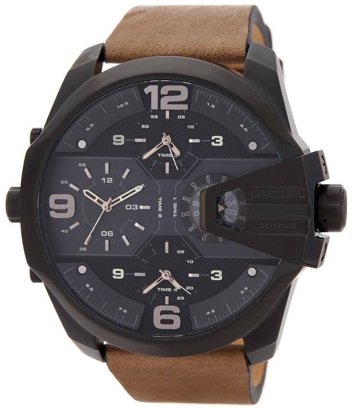 DieselDiesel Men's Uber Chief Chronograph Leather Strap Watch