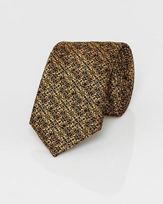 Le Château Novelty Print Metallic Knit Skinny Tie