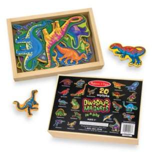 Melissa and Doug Melissa & Doug® 20-Piece Wooden Dinosaur Magnet Set