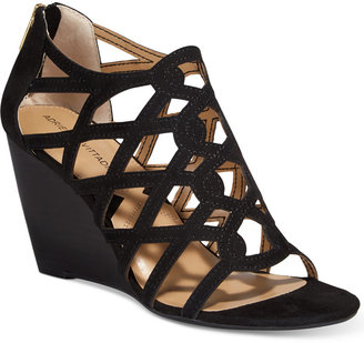 Adrienne Vittadini Alby Strappy Wedge Sandals Women's Shoes $99 thestylecure.com
