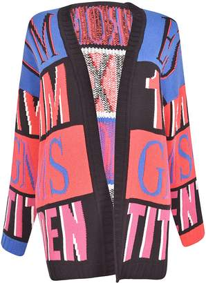 MSGM Oversized Intarsia Knitted Cardigan