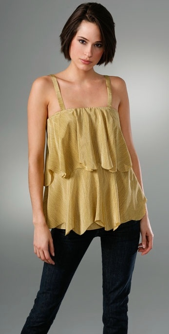 Karen Zambos Vintage Couture Scallop Top