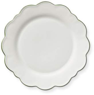 AERIN Scalloped Green Rim Dinner Plates