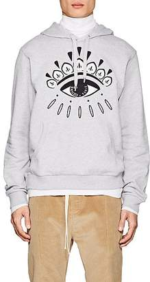 Kenzo Men's Eye-Embroidered Cotton French Terry Hoodie - Gray
