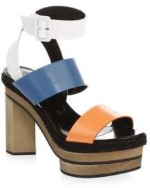 Pierre Hardy Deck Leather Ankle-Strap Sandals