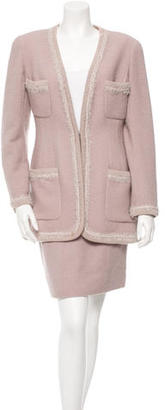 Chanel Wool Two-Piece Skirt Suit $470 thestylecure.com