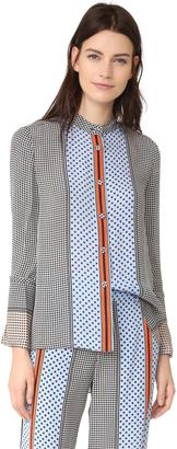 Derek Lam 10 Crosby Bell Sleeve Pajama Top $425 thestylecure.com