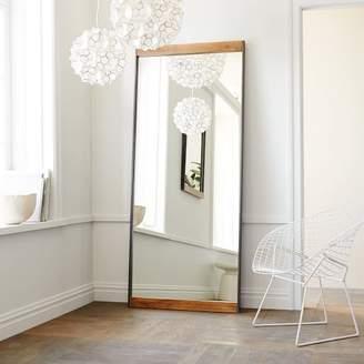 west elm Industrial Metal + Wood Floor Mirror