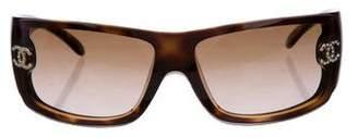Chanel Strass Shield Sunglasses