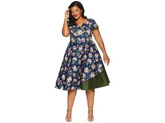 Unique Vintage Plus Size 1950s Style Slauson Swing Dress
