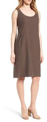 Women's Eileen Fisher Tencel Blend Shift Dress $198 thestylecure.com