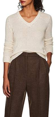 The Row Women's Aetra Cashmere-Blend V-Neck Sweater - White
