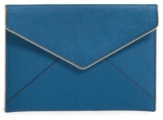Rebecca Minkoff 'Leo' Envelope Clutch - Blue $95 thestylecure.com