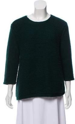 Tibi Knitted Crew Neck Sweater