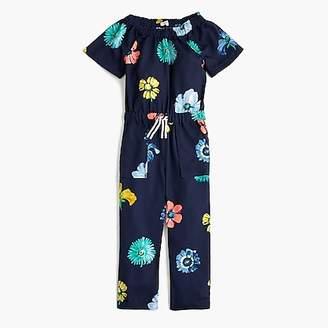 J.Crew Girls' floral jumpsuit