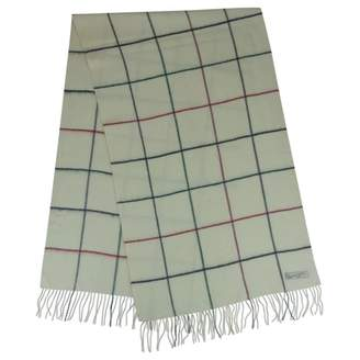 Philippe Model White Wool Scarves