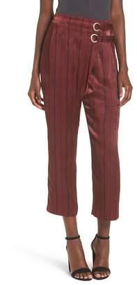 J.o.a. Striped Satin Crop Pants