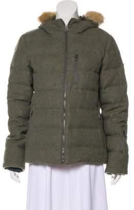 Hunter Wool Fox Fur-Trimmed Short Coat