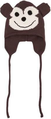 Monkey Merino Wool Knit Hat