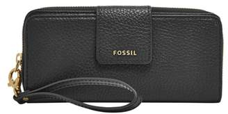 Fossil Madison Zip Clutch Wallet Black