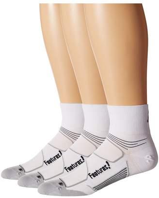 Feetures Eliter Ultra Light Quarter 3-Pair Pack Crew Cut Socks Shoes