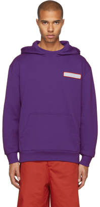 Acne Studios Purple Spilled Cocktail Fog Hoodie