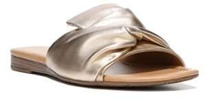 Franco Sarto Gracelyn Leather Slide Sandals $79 thestylecure.com