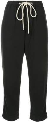Bassike washed herringbone cropped trousers