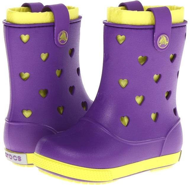 Crocs Crocband Airy Hearts Boot (Toddler/Little Kid) (Carnation/Fushsia) - Footwear