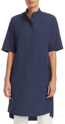 Akris Punto Short-Sleeve Drop Shoulder Mini Tunic