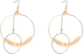 Panacea Pannee By Gold-Tone Hoop & Crystal Earrings
