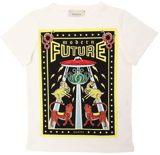 Gucci Modern Future Cotton Jersey T-Shirt