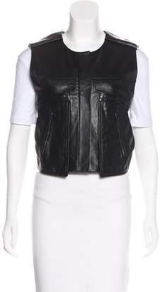 Alexander Wang Zip-Accented Leather Vest