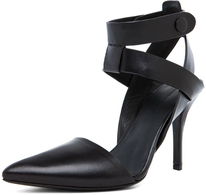 Alexander Wang Sonja Ankle Strap Pump in Black