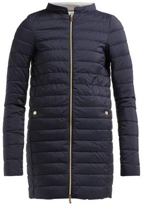 Herno Quilted Down Coat - Womens - Navy Multi