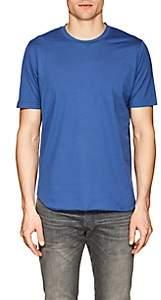 S.MORITZ Men's Cotton Jersey T-Shirt-Blue