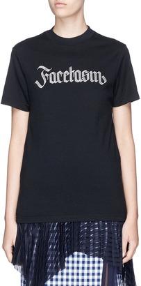 Facetasm Logo embroidered T-shirt