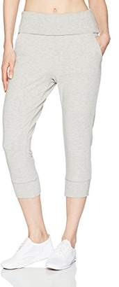 Pink Lotus PL Movement by Women's Untamed Move Forward Foldover Waist Band French Terry Capri Sweatpant