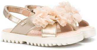 Geox Kids floral corsage sandals